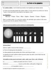 Terre - Planètes - Exercices - Espace temps : 2eme Primaire