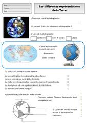 Différentes représentations de la terre - Exercices - Espace temps : 2eme Primaire