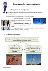 Trajectoire des mouvements - Exercices : 4eme, 5eme Primaire