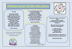 Fête des pères - Poèmes - Vie de la classe : Primaire - Cycle Fondamental