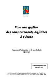 Gestion du comportement en  - Aides pour les enseignants : 3eme, 4eme, 5eme Primaire