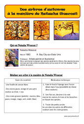 Arbres d'automne à la manière de Natasha Wescoat - Arts plastiques : 2eme, 3eme, 4eme, 5eme Primaire