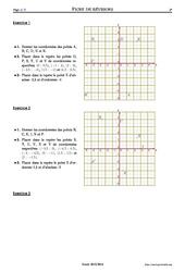 Repérage - Exercices corrigés - Mathématiques - Soutien scolaire : 1ere Secondaire