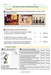 Loisirs et jeux à différentes époques - Exercices à imprimer : 3eme Primaire
