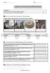 Loisirs et jeux à différentes époques - Examen Evaluation - Bilan : 3eme Primaire