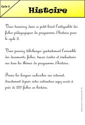 Livrets pédagogiques à télécharger- Fiches Histoire - Géographie - Sciences - Instruction civique - Histoire de l'art  pour le  et Découverte du monde  : 2eme, 3eme, 4eme, 5eme Primaire