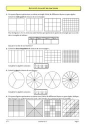 Fractions - Cours - Exercices - Mathématiques : 1ere Secondaire