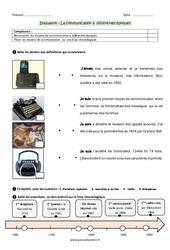 Communication à différentes époques - Examen Evaluation : 3eme Primaire