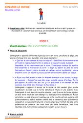 Sable - Fiche de préparation - Séquence : 2eme Maternelle - Cycle Fondamental
