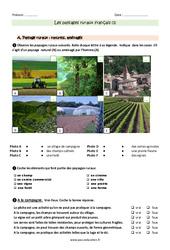 Paysages ruraux français - Exercices à imprimer : 3eme Primaire