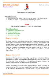 Quadrillage - Séquence - Séances : 2eme Maternelle - Cycle Fondamental