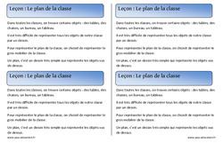 Plan de la classe - Cours, Leçon - Espace : 1ere Primaire