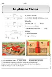 Plan de l'école - Exercices - Espace : 1ere Primaire