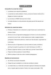Conseil des maîtres - Directeurs / Direction d'école : Primaire - Cycle Fondamental