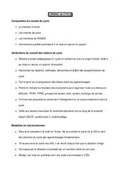 Conseil de cycle - Directeurs / Direction d'école : Primaire - Cycle Fondamental