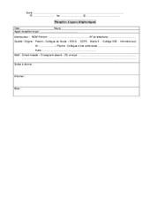 Réception des appels téléphoniques - Directeurs / Direction d'école : Primaire - Cycle Fondamental