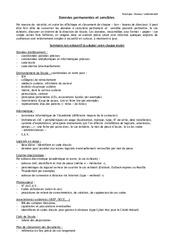 Liste des données sensibles à conserver - Directeurs / Direction d'école : Primaire - Cycle Fondamental