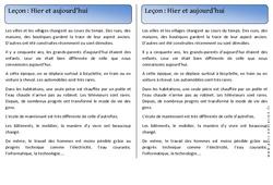 Hier - Aujourd'hui - Trace écrite - Temps - Cours, Leçon : 1ere Primaire