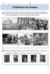 Histoire de France - Traces du passé - Temps - Exercices : 1ere Primaire