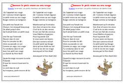 Le petit renne au nez rouge - Poèmes et chansons de Noël : Primaire - Cycle Fondamental
