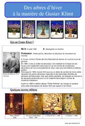 Arbres d'hiver à la manière de Klimt - Arts plastiques : Primaire - Cycle Fondamental