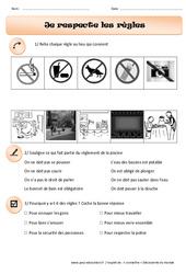 Je respecte les règles - Exercices - Instruction civique : 1ere Primaire