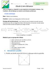 Fabrication, fonctionnement - Objet technique - Exercices : 6eme Primaire