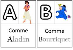 Abécédaire - Personnages fantastiques - Affichages pour la classe : 1ere, 2eme, 3eme Maternelle - Cycle Fondamental