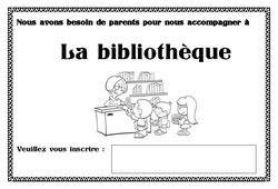 Affiche accompagnement bibliothèque - Affichages pour la classe : 1ere, 2eme, 3eme Maternelle - Cycle Fondamental