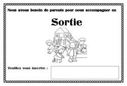 Affiche accompagnement sortie - Affichages pour la classe : 1ere, 2eme, 3eme Maternelle - Cycle Fondamental