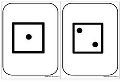 Cartes dés - Affichages pour la classe : 1ere, 2eme, 3eme Maternelle - Cycle Fondamental