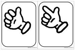 Cartes doigts - Affichages pour la classe : 1ere, 2eme, 3eme Maternelle - Cycle Fondamental
