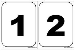 Cartes nombres - Affichages pour la classe : 1ere, 2eme, 3eme Maternelle - Cycle Fondamental