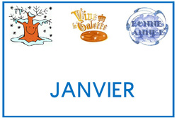 Mois de l'année - Grosse lettres imprimerie - Affichages pour la classe : 1ere, 2eme, 3eme Maternelle, 1ere Primaire