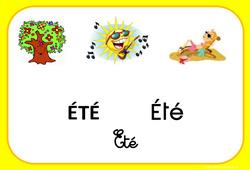 Eté - Saison - Affichages pour la classe : 1ere, 2eme, 3eme Maternelle, 1ere Primaire