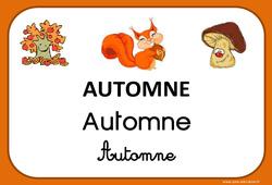 Automne - Saison - Affichages pour la classe : 1ere, 2eme, 3eme Maternelle, 1ere Primaire
