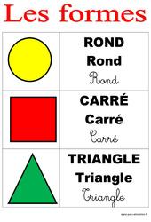 Formes - Affichages pour la classe : 1ere, 2eme, 3eme Maternelle, 1ere Primaire
