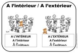Intérieur - Extérieur - Affichages pour la classe : 1ere, 2eme, 3eme Maternelle - Cycle Fondamental
