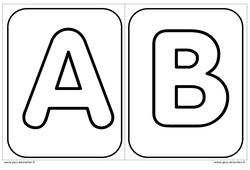 Décorer l'initiale de son prénom - Alphabets - Affichages pour la classe : 1ere, 2eme, 3eme Maternelle - Cycle Fondamental
