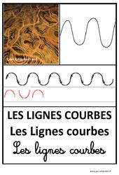 Lignes courbes - Graphisme - Affichages pour la classe : 1ere, 2eme, 3eme Maternelle - Cycle Fondamental