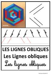 Lignes obliques - Graphisme - Affichages pour la classe : 1ere, 2eme, 3eme Maternelle - Cycle Fondamental