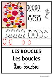 Boucles - Graphisme - Affichages pour la classe : 1ere, 2eme, 3eme Maternelle - Cycle Fondamental