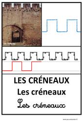 Créneaux - Graphisme - Affichages pour la classe : 1ere, 2eme, 3eme Maternelle - Cycle Fondamental