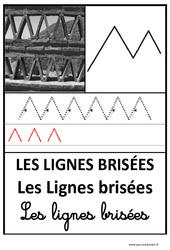 Lignes brisées - Graphisme - Affichages pour la classe : 1ere, 2eme, 3eme Maternelle - Cycle Fondamental