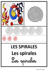 Spirales - Graphisme - Affichages pour la classe : 1ere, 2eme, 3eme Maternelle - Cycle Fondamental