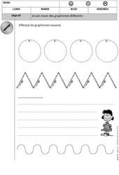 Graphisme : 1ere, 2eme Maternelle - Cycle Fondamental