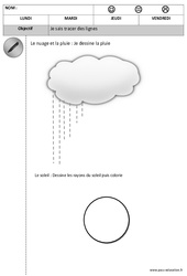 Horizontal - Vertical - Tracer des lignes - Graphisme : 1ere, 2eme Maternelle - Cycle Fondamental