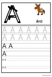 Alphabet - Ecrire les lettres - Ecriture : 1ere, 2eme Maternelle - Cycle Fondamental