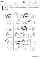 Discrimination visuelle - Lecture : 1ere, 2eme Maternelle - Cycle Fondamental