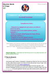 Conseil municipal - EMC - Fiche de préparation : 3eme Primaire